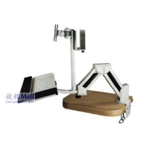 夾式與壁掛雙功能鍵盤螢幕支臂架 GM131EA,螢幕可以傾斜、旋轉,支臂可左右調整,螢幕360度旋轉