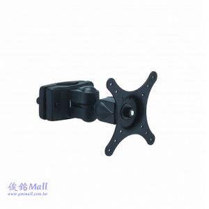 ACC-P864W 夾管式液晶螢幕架,廣泛應用於5G基地台佈建設備需求的夾具,適合30-60mm直徑桿,支臂可上下傾斜左右旋轉,螢幕130度旋轉,(有現貨)