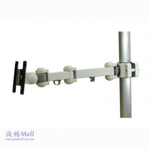 GM1280W 夾管式液晶螢幕架,適合30-50mm的直徑桿範圍,承重10公斤,顯示器可傾斜和旋轉