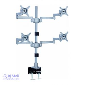 LCD-T057-1 雙節支臂液晶四螢幕架,適用至24