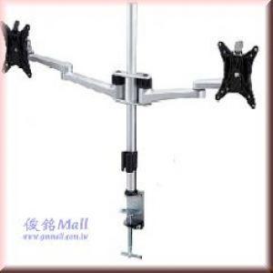 LCD-T062 雙節手臂桌上型液晶電腦雙螢幕架,適用至24吋,具有LCD快拆功能