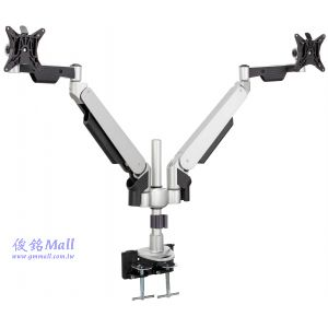 LCD-T270 氣壓式雙節手臂夾桌型螢幕支架,適用至24