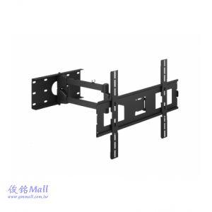 PLAW-7004 雙節手臂型液晶電視壁掛架,適用32-56吋,承重60KG,可左右旋轉、上下俯仰調整