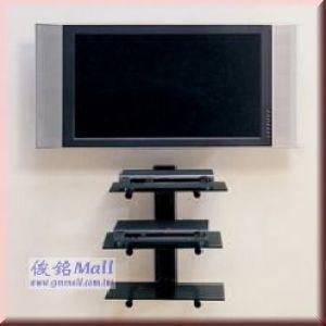 WRS-1703 電視音響架,三層玻璃,每層承重:15KG(不含螢幕)
