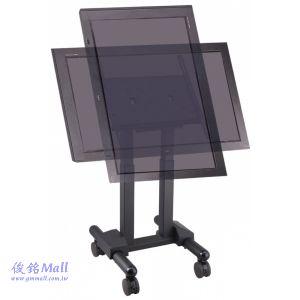 PLAB-10431B 液晶電視螢幕移動架,螢幕可做俯仰90度調整,適用32~56