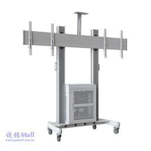 NB AVG1800-60-2A銀 可移動式液晶電視雙螢幕立架,適用40~60吋電視架,可調整高度,承重136kg