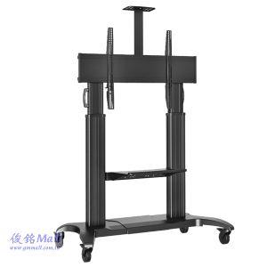 NB CF100黑色 可移動式液晶電視立架,適用60~100吋觸控電視架,承重90.9公斤移動電視架
