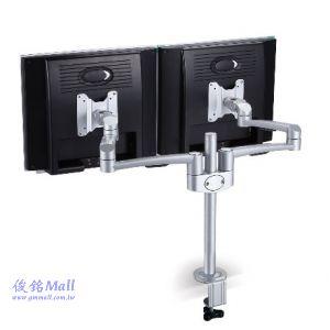 SPEEDCOM LA-820 桌上型雙螢幕懸臂式鋁合金液晶電腦螢幕架,適用15~24吋液晶螢幕