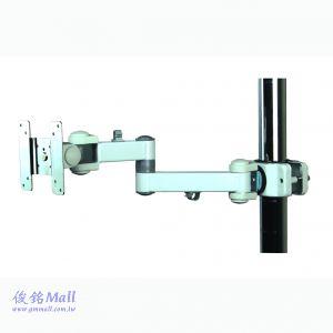 GM1290W 夾管式液晶螢幕架,承重10公斤,顯示器可傾斜和旋轉