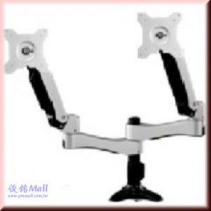 ATI-40 雙旋臂穿桌式液晶螢幕架,適用15~24吋,可調整高度,支臂可左右90度調整,螢幕360度旋轉
