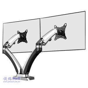 NB F180 氣彈簧型桌上式液晶電腦雙螢幕架,適用17~27吋螢幕架,支臂可伸縮以及升降設計