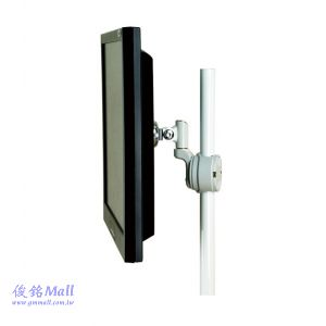 GM1100W 夾管式液晶螢幕架,適用支架管徑15~30mm,支臂長度約85mm,支架可上下90度,左右180度,螢幕360度旋轉
