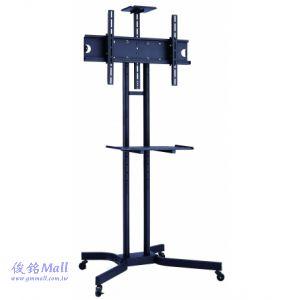 可移動式液晶電視立架 CMB-0954B,適用32~65吋移動電視架,可調整高度,可做俯仰調整上下