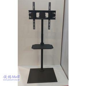鎖地板型液晶電視導覽支架 CMS-F9161B(含承板),適用32-55吋液晶電視導覽支架,螢幕可左右旋轉/可調俯仰角度,高度可調整