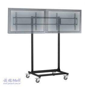 GM1037 移動式液晶左右雙螢幕電視立架,適用42-52吋液晶電視,視訊會議電視架,展覽廣告架