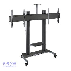 NB AVT1800-65-2A黑 可移動式液晶電視雙螢幕立架,適用40~65吋移動式電視架,可調整高度,承重136kg